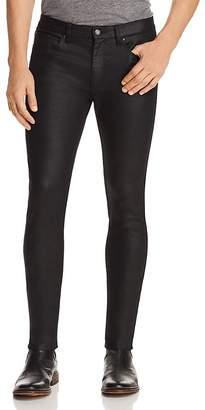 HUGO Stretch Coated Super Slim Fit Jeans in Black