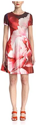 Julia Jordan Women's Floral Print Fit-and-Flare, Pink/Multi $53 thestylecure.com
