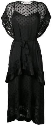 Zimmermann polka dot tiered dress