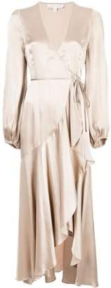 Shona Joy frill wrap dress