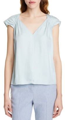Rebecca Taylor Tailored by Silk Blend Top