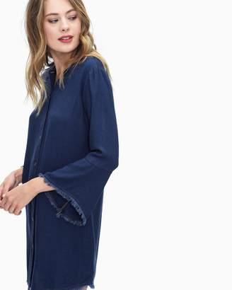 Splendid Crosshatch Long Sleeve Dress Denim