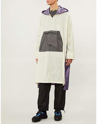 Marni Contrast-panel hooded shell raincoat