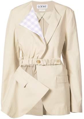 Loewe asymmetric patchwork jacket