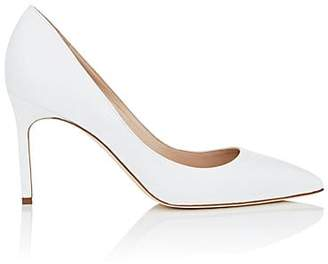 Manolo Blahnik Women's BB Leather Pumps - White Leather