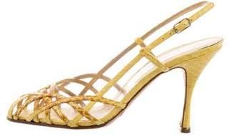 Dolce & Gabbana Python Slingback Sandals
