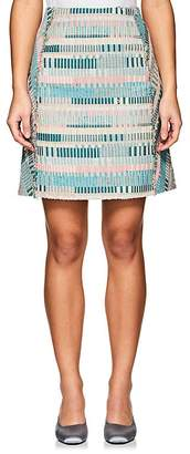 TOMORROWLAND Women's Frayed-Seam Tweed Miniskirt