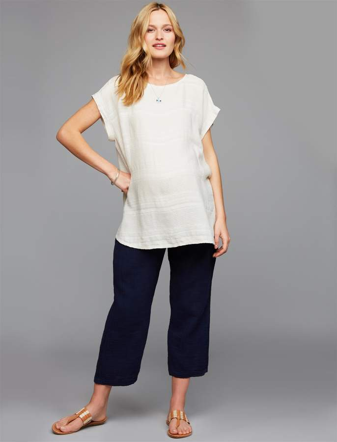 Pea Collection Under Belly Gauze Boot Cut Maternity Pants