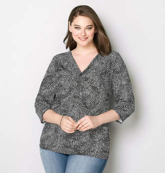 Avenue Abstract Dot Twist Blouse
