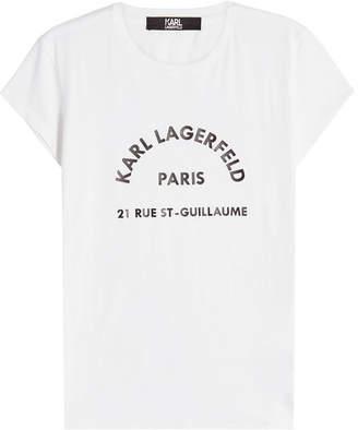Karl Lagerfeld Printed Cotton T-Shirt