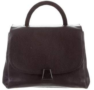 Akris Grained Leather Satchel