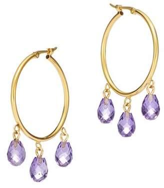 Bloomingdale's Amethyst Briolette Hoop Earrings in 14K Yellow Gold - 100% Exclusive