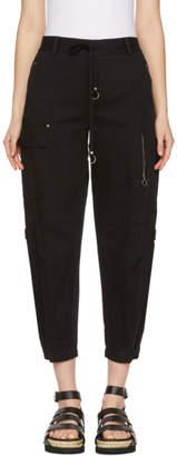 Alexander Wang Black Twill Cargo Pants