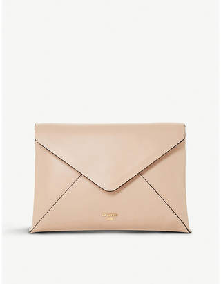 Dune Enria fold-over envelope clutch bag