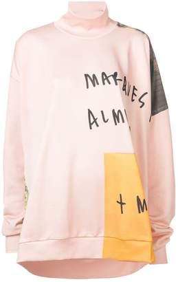 Marques Almeida Marques'almeida asymmetric funnel sweater