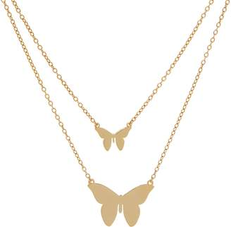 Jennifer Zeuner Jewelry Jz By JZ by Sterling or 18K Plated Butterfly Necklace