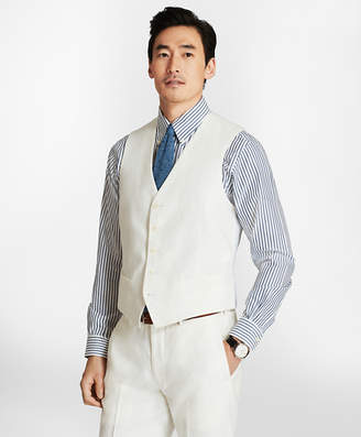 Brooks Brothers Five-Button Linen Vest