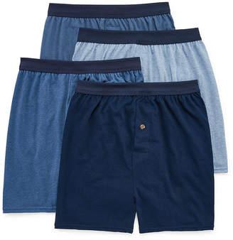 Hanes Men's FreshIQ ComfortFlex Waistband Knit Boxer 4-Pack