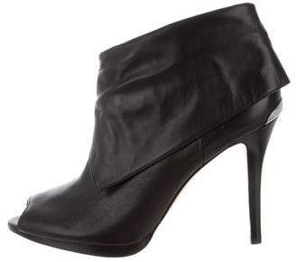 MICHAEL Michael Kors Peep-Toe Leather Booties
