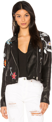 BLANKNYC Embroidered Faux Leather Jacket $148 thestylecure.com