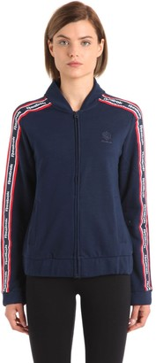 Reebok Classics Cotton Track Jacket With Logo Bands