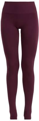 Pepper & Mayne - Margot Rib Knit Stirrup Leggings - Womens - Dark Purple
