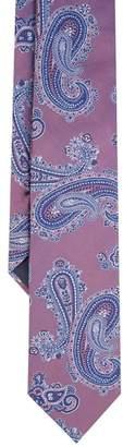 Duchamp London LONDON Pink Classic Paisley Silk Tie