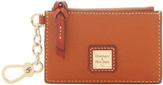 Dooney & Bourke Pebble Grain Zip Top Card Case