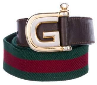 Gucci G Logo Web Belt