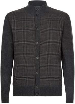 Hackett Wool Tweed Cardigan