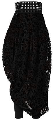 High Maquette Floral Devoré Skirt