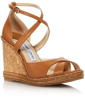 40691dbccdd0 Jimmy Choo Women s Alanah 105 Cork Wedge Heel Sandals