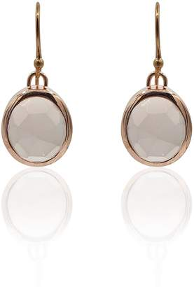 Eliza J Bautista Aissa Rose Quartz Earrings In 18K Rose Gold Vermeil On Sterling Silver