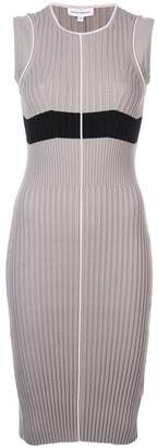 Narciso Rodriguez ribbed knit fitted dress