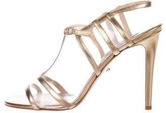 Diane von Furstenberg PVC Ankle-Strap Sandals