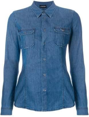 Emporio Armani slim-fit denim shirt