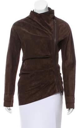Lanvin Asymmetrical Suede Jacket