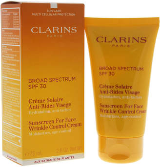 Clarins 2.6Oz Sunscreen For Face Wrinkle Control Cream Spf 30