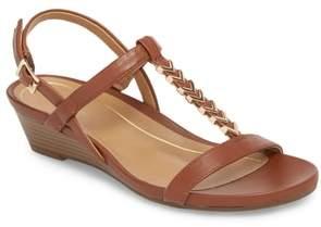 Vionic Cali T-Strap Wedge Sandal