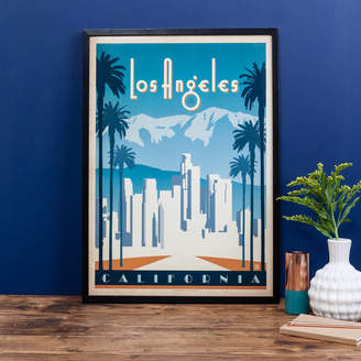 I Heart Travel Art. Los Angeles, California Travel Print
