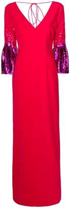 Sachin + Babi contrast sleeve gown
