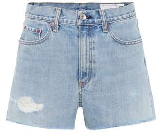 Rag & Bone Justine denim cut-off shorts