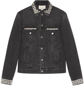 Denim jacket with embroideries $2,490 thestylecure.com