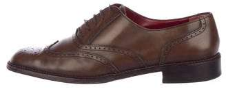 Salvatore Ferragamo Leather Brogue Oxfords