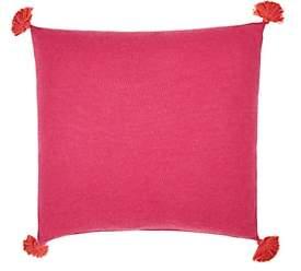 Alicia Adams Alpaca Pom-Pom Baby Alpaca Pillow-Pink