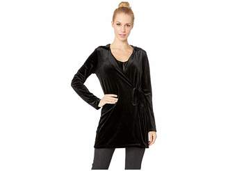 BB Dakota Practical Magic Velvet Hooded Wrap Jacket