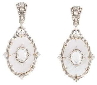Judith Ripka Mother of Pearl Multistone Oasis Earrings