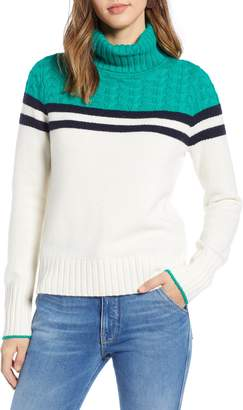 1901 Colorblock Turtleneck Sweater