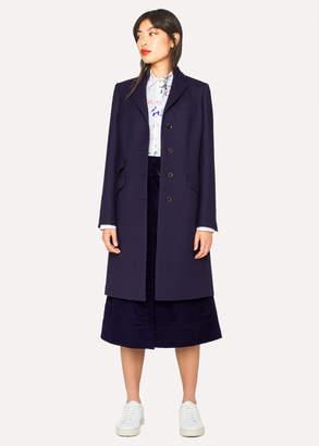 Paul Smith Women's Indigo Wool-Blend Epsom Coat