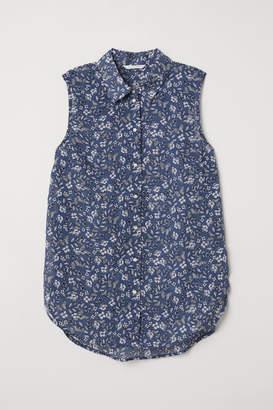 H&M Sleeveless Blouse - Blue